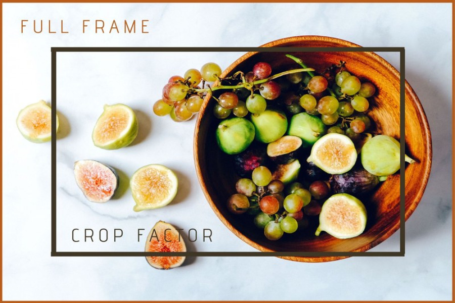 Full frame vs crop factor camera view