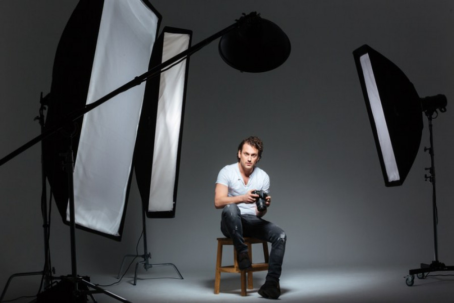 Softboxes in studio use