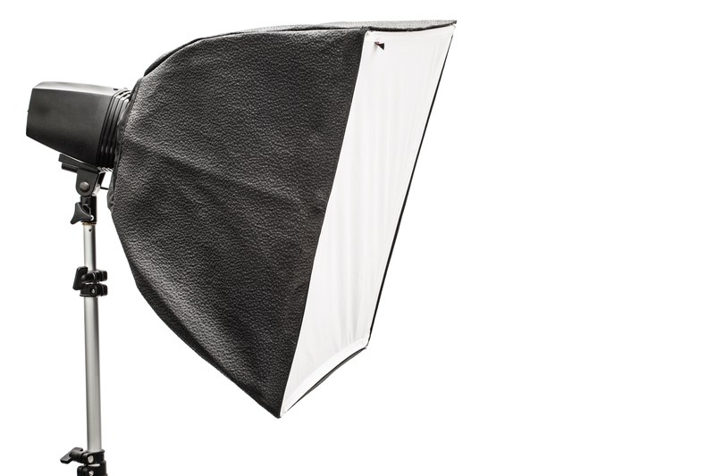 big photographic softbox isolated on a white backg