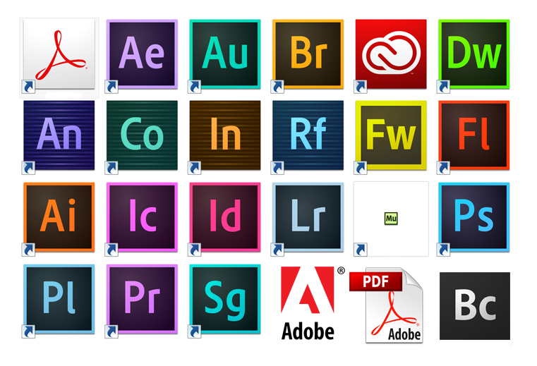 Adobe programs icons