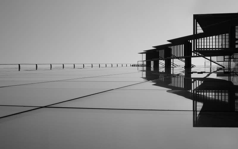 Black and white photography, lines in composition