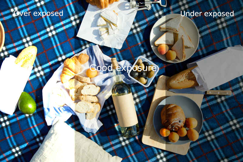 picnic set on blanket