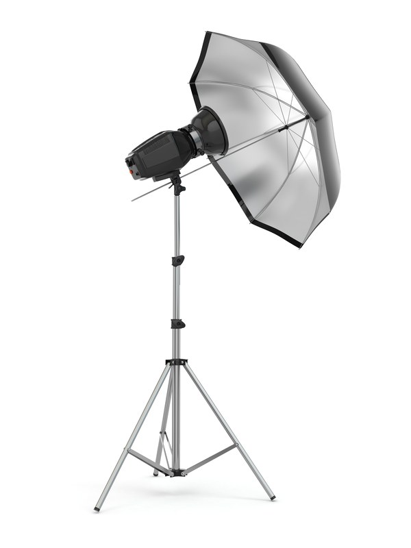studio strobe light flash with umbrella